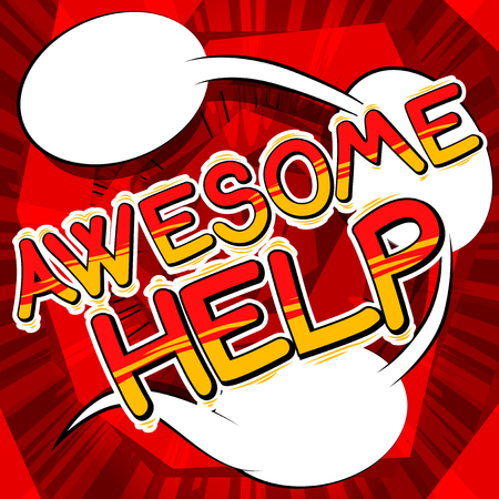 Awesome Help - Comic book style text. Ilustrace