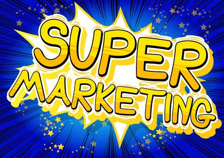 Super Marketing - Comic book style word.