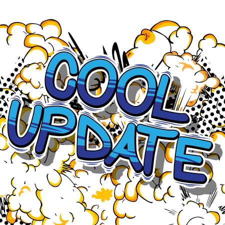refreshed: Cool Update - Comic book style word on abstract background. Illustration
