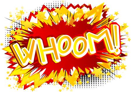 Whoom! - Vector geïllustreerd comic book stijl expressie.