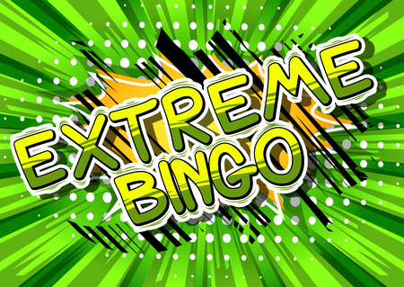Extreme Bingo - Comic book style word on abstract background. Vector Illustration