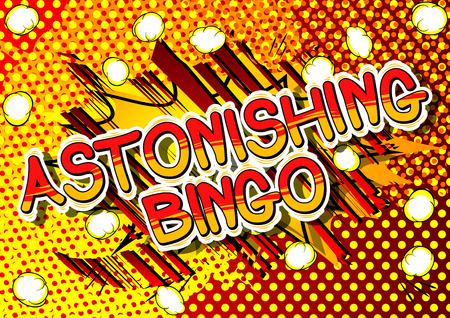 Astonishing Bingo - Comic book style word on abstract background. Иллюстрация