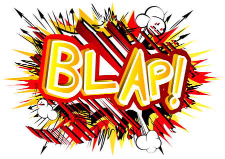 Blap! - Vector illustrated comic book style expression.