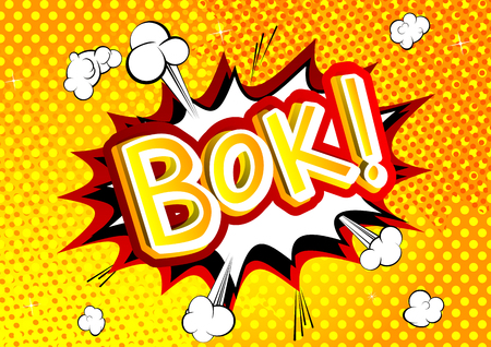 Bok! - Vector illustrated comic book style expression. Иллюстрация