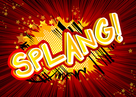Splang! Vector illustrated comic book style expression.