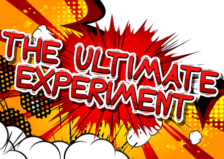 究極の実験 - コミック スタイル句の抽象的な背景。