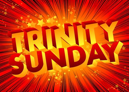 Vector geïllustreerde banner of poster voor Trinity Sunday.
