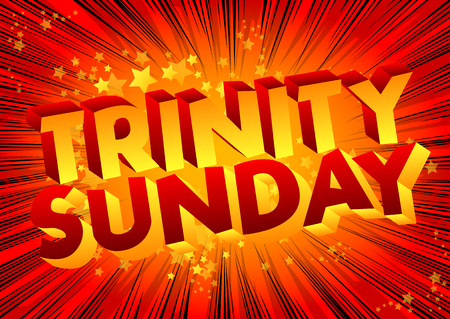 Vector illustrated banner or poster for Trinity Sunday.