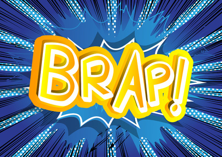 Brap! - Vector illustrated comic book style expression.