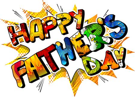 벡터 배너, 인사말 카드 또는 포스터 아버지의 날을 보여줍니다.