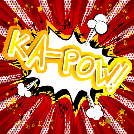 Ka-Pow! Vector illustrated comic book style expression.