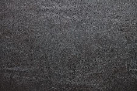 背景の黒革テクスチャ サーフェス。 写真素材