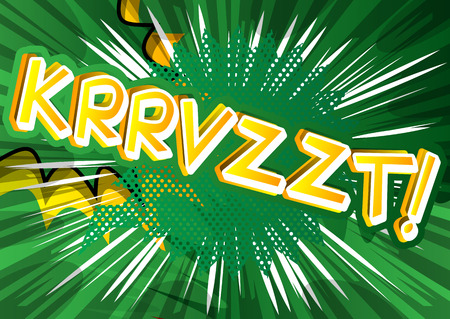 Krrvzzt! - Vector illustrated comic book style expression. Фото со стока - 80572112