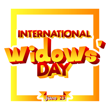 Vector illustrated banner, greeting card or poster for International Widows Day.