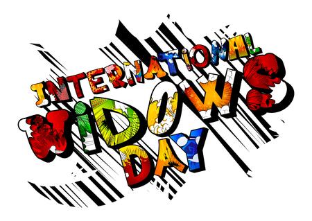 ベクトルは、国際寡婦日バナー、グリーティング カードやポスターを示します。