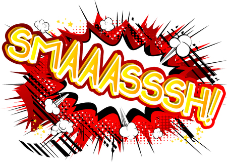 Smaaasssh! - Vector illustrated comic book style expression.