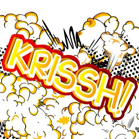 Krissh!ベクトルには、コミック スタイルの式が示されています。