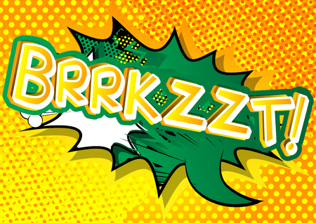 Brrkzzt! - Vector illustrated comic book style expression.