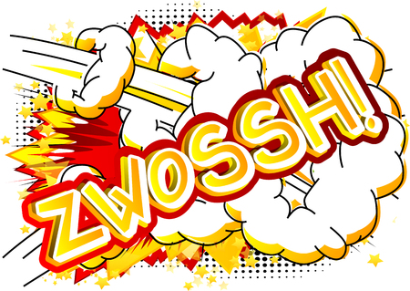 Zwossh! - Vector illustrated comic book style expression.