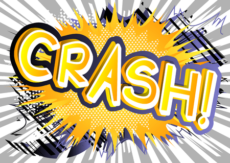 Crash! - Vector illustrated comic book style expression. Фото со стока - 81429369