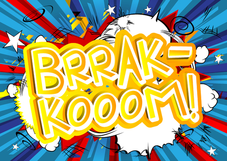 Brrak-Kooom! - Vector illustrated comic book style expression.