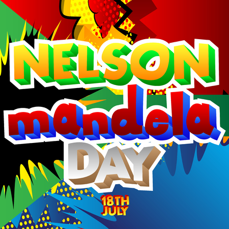 Vector illustrated banner, greeting card or poster for Nelson Mandela Day.