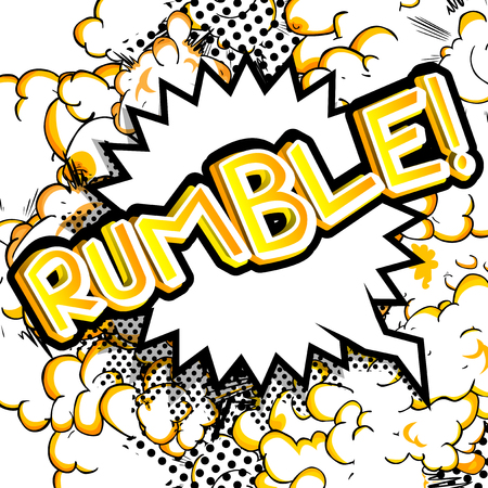 Rumble! - Vector illustrated comic book style expression. Ilustrace