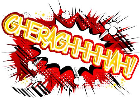 Gheraghhhhah!ベクトルには、コミック スタイルの式が示されています。