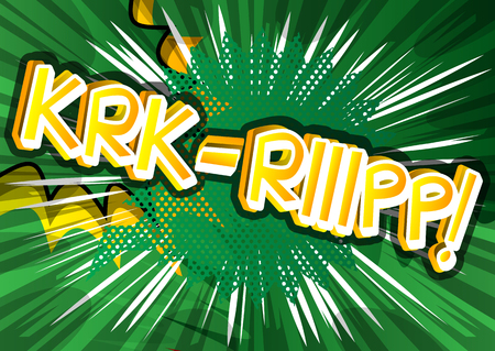 cartoon bomb: Krk-Riiipp! - Vector illustrated comic book style expression.