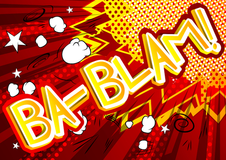 Ba-Blam! - Vector illustrated comic book style expression. 向量圖像