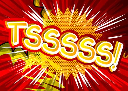 Tsssss!-ベクトルにコミック スタイルの式が示されています。