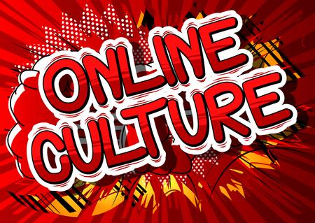 Online cultuur - Comic book stijl zin op abstracte achtergrond. Stockfoto - 82167950