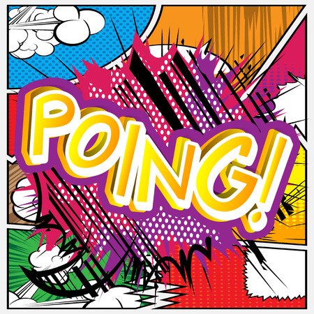 cartoon bomb: Poing! - Vector illustrated comic book style expression.