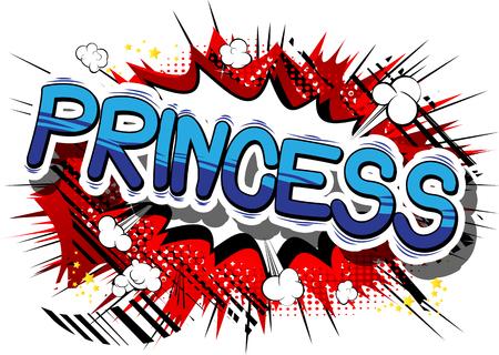 プリンセス コミック スタイル句の抽象的な背景。