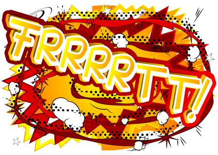 Frrrrtt! - Vector illustrated comic book style expression. 向量圖像