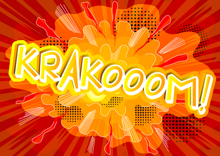 cartoon bomb: Krakooom! - Vector illustrated comic book style expression.