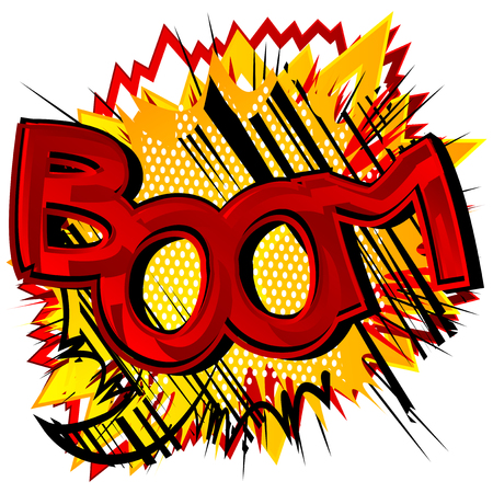 Boom! - Vector illustrated comic book style expression. 向量圖像