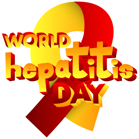 popart: Vector illustrated banner, greeting card or poster for World Hepatitis Day.