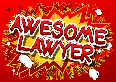 素晴らしい弁護士 - コミック スタイル句の抽象的な背景。