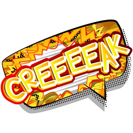 Creeeeak - illustrated comic book style expression. 向量圖像