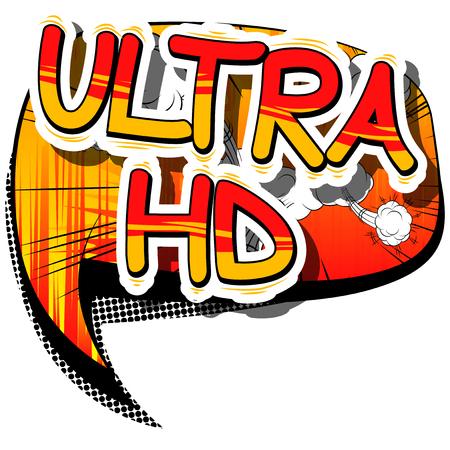 Ultra HD - Comic book style phrase Ilustração