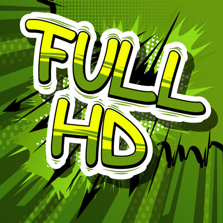 Full HD - Comic book style phrase on abstract background. Ilustração