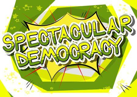 壮大な民主主義 - コミック スタイルのフレーズ