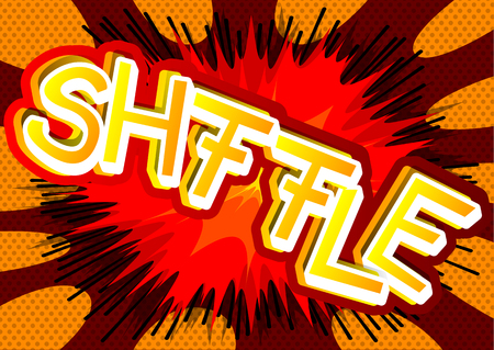 Shffle - Vector illustrated comic book style expression.