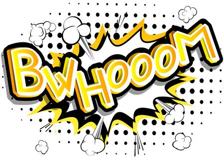 Bwhooom - ベクトルには、コミック スタイルの式が示されています。