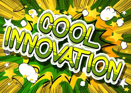 Cool innovation a comic book design. Illusztráció