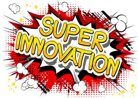 Super Innovation in a comic book design. Illusztráció