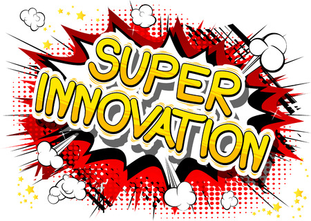 Super Innovation in un disegno di fumetti. Archivio Fotografico - 83977561