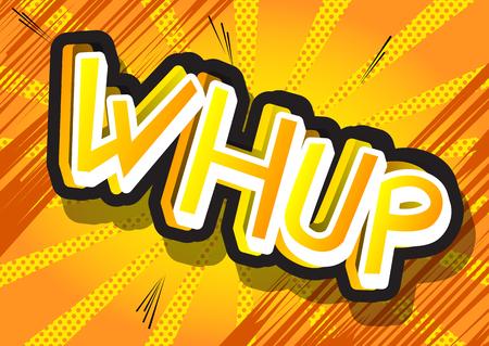 Whup - ベクトルにコミック スタイルの式が示されています。
