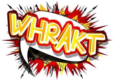 Whrakt - ベクトルには、コミック スタイルの式が示されています。  イラスト・ベクター素材